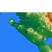 Nearby Forecast Locations - Chinandega - Χάρτης