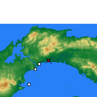 Nearby Forecast Locations - Tocumen - Χάρτης
