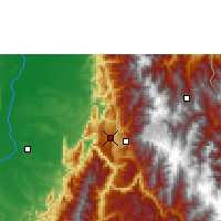 Nearby Forecast Locations - Bucaramanga - Χάρτης