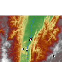 Nearby Forecast Locations - Palanquero - Χάρτης