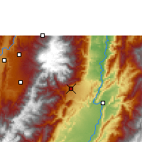 Nearby Forecast Locations - Ibagué - Χάρτης