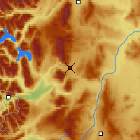 Nearby Forecast Locations - Esquel - Χάρτης