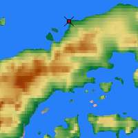Nearby Forecast Locations - Bernado Higgins - Χάρτης
