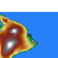 Nearby Forecast Locations - Hilo/Hawaii - Χάρτης