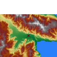 Nearby Forecast Locations - Nadzab - Χάρτης