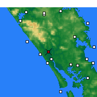 Nearby Forecast Locations - Dargaville - Χάρτης