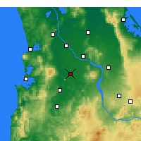 Nearby Forecast Locations - Te Awamutu - Χάρτης