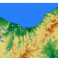 Nearby Forecast Locations - Opotiki - Χάρτης