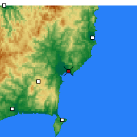 Nearby Forecast Locations - Gisborne - Χάρτης
