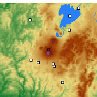 Nearby Forecast Locations - Tongariro NP - Χάρτης