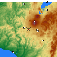 Nearby Forecast Locations - Ohakune - Χάρτης