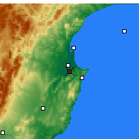 Nearby Forecast Locations - Havelock North - Χάρτης