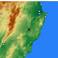 Nearby Forecast Locations - Waipukurau - Χάρτης