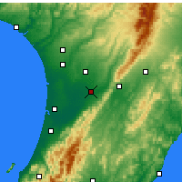 Nearby Forecast Locations - Palmerston North - Χάρτης