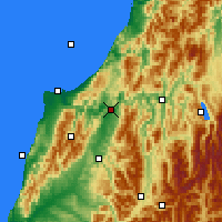 Nearby Forecast Locations - Inangahua Junction - Χάρτης