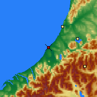 Nearby Forecast Locations - Hokitika - Χάρτης