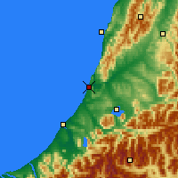 Nearby Forecast Locations - Greymouth - Χάρτης