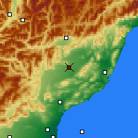 Nearby Forecast Locations - Culverden - Χάρτης