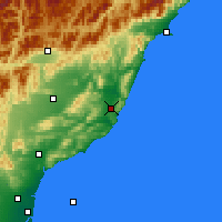 Nearby Forecast Locations - Cheviot - Χάρτης