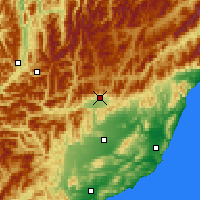 Nearby Forecast Locations - Hanmer Springs - Χάρτης