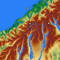 Nearby Forecast Locations - Mount Cook NP - Χάρτης