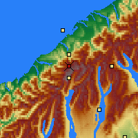 Nearby Forecast Locations - Westland NP - Χάρτης