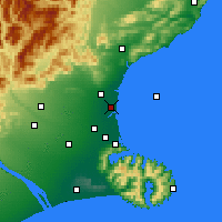 Nearby Forecast Locations - Kaiapoi - Χάρτης