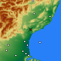 Nearby Forecast Locations - Waipara - Χάρτης