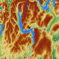 Nearby Forecast Locations - Queenstown - Χάρτης