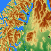 Nearby Forecast Locations - Te Anau - Χάρτης