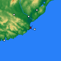 Nearby Forecast Locations - Nugget Point Aws - Χάρτης
