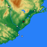 Nearby Forecast Locations - Milton - Χάρτης