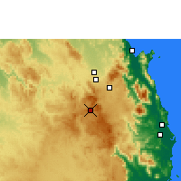 Nearby Forecast Locations - Herberton - Χάρτης