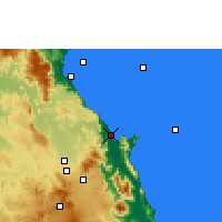 Nearby Forecast Locations - Cairns - Χάρτης
