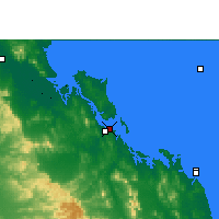 Nearby Forecast Locations - Gladstone - Χάρτης