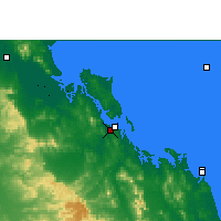 Nearby Forecast Locations - Gladstone Airport - Χάρτης
