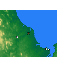 Nearby Forecast Locations - Bundaberg - Χάρτης
