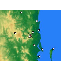 Nearby Forecast Locations - Baroon Pocket Dam - Χάρτης