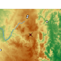 Nearby Forecast Locations - Tenterfield - Χάρτης