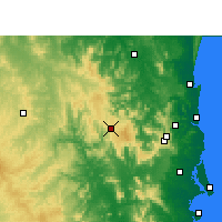 Nearby Forecast Locations - Jimna Forestry - Χάρτης