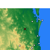 Nearby Forecast Locations - Gympie - Χάρτης