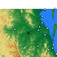 Nearby Forecast Locations - Amberley - Χάρτης