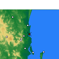 Nearby Forecast Locations - Sunshine Coast Airport - Χάρτης