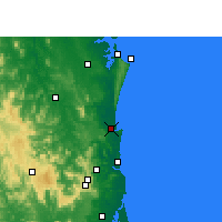 Nearby Forecast Locations - Tewantin - Χάρτης