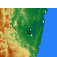 Nearby Forecast Locations - Grafton - Χάρτης