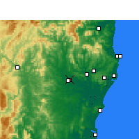 Nearby Forecast Locations - Casino - Χάρτης