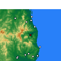Nearby Forecast Locations - Murwillumbah - Χάρτης