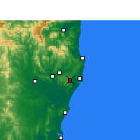 Nearby Forecast Locations - Alstonville - Χάρτης