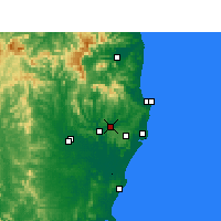 Nearby Forecast Locations - Lismore - Χάρτης