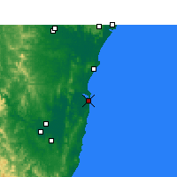 Nearby Forecast Locations - Yamba - Χάρτης